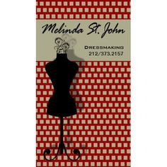 Vintage Red Dressmaker Mannequin Sewing Fashion Designer Business Cards http://www.zazzle.com/dressmaker_mannequin_sewing_fashion_designer_business_card-240565039565820853?rf=238835258815790439&tc=GBCSewing1Pin