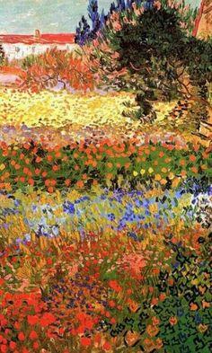 Vincent Van Gogh - Flowering Garden, July 1888, Arles - Oil on canvas, 92 x 73 cm Metropolitan Museum of Art, New York
