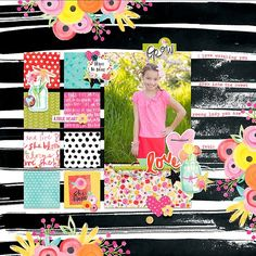 Bella Blvd IF She Blooms digital collection. She Blooms digital layout by creative team member Krista Lund.