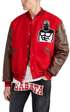 Warren Lotas Wool-Blend Varsity Jacket  803f5bf42
