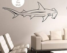 Hammerhead Shark Wall Decal Sticker Art Decor Bedroom Design Mural interior design family home decor art ocean sea animal
