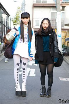 Harajuku Girls in Black and White