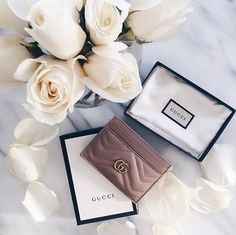 Gucci 'Marmont' chevron card holder | pinterest: @Blancazh