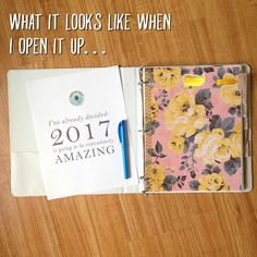 This is exciting. 2017 is just around the corner and I just finished getting my Life Binder all cleaned up and perked up for the new year and for YOU! :) In case you're unfamiliar with this, my Life Binder is a system that I've used for years to take 100% responsibility for my life. It allo