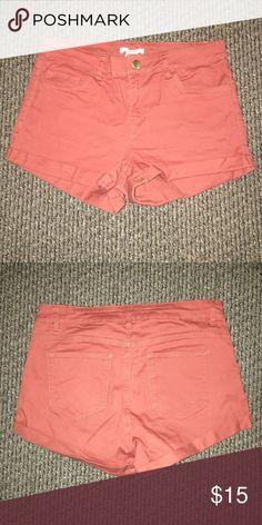 Red/orange high waisted kaki shorts Red/orange high waisted kaki shorts H&M Shorts Skorts