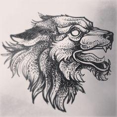 #tattoos #wolf #tattooflash #tattooart