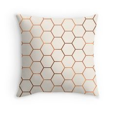Rose gold copper honeycomb
