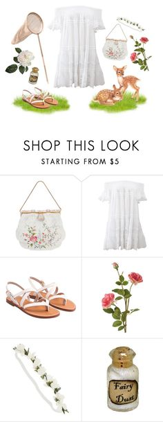 """""""White rose maiden"""" by pinkiecore ❤ liked on Polyvore featuring Anjuna, OKA and Dollhouse"""
