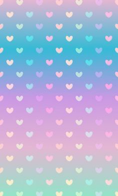Gradient pastel heart wallpaper: