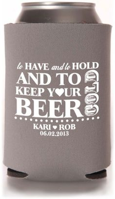 I'm pinning this only because I think Joan would love it as a favor for the guests ;) Wedding Koozies, Beach Wedding Favors, Wedding Favors Cheap, Homemade Wedding Favors, Coolers, Wedding Supplies, Special Day, Great Gifts, Camo