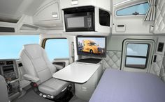 custom sleeper interiors | Kenworth T680 Sleeper Cab Interior