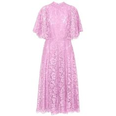 Valentino Lace Dress ($5,270) ❤ liked on Polyvore featuring dresses, pink, lace cocktail dress, pink lace cocktail dress, lacy dress, valentino dress and lace dress