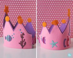 Corona Aniversari // by Melimelum Style, Scrappy Quilts, Beanies, Crowns, Felting, Accessories, Flowers, Stylus