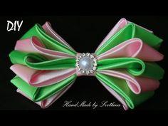Цветы из лент Канзаши DIY Kanzashi flower Flor das fitas Flor de las cintas Fleur des rubans - YouTube