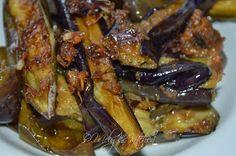 binagoongang talong, eggplant, Filipino food