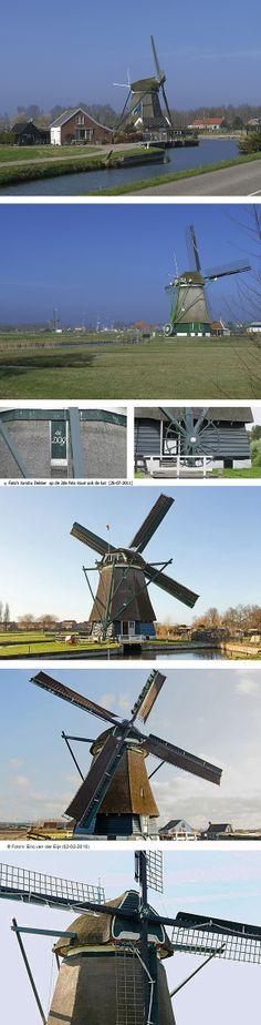 Polder mill De Dog, Uitgeest, the Netherlands.