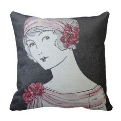 Bandeau Pillow  www.zazzle.com/vintageandeco*