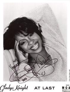 Gladys Knight - one of my favorites!