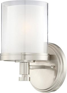 Best Bathroom Light Fixtures   Nuvo 604641 Decker Brushed Nickel One Light Vanity -- See this great product.(It is Amazon affiliate link)