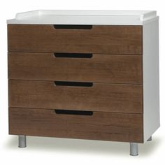 Oeuf Classic Collection 4 Drawer Dresser. Oeuf furniture gives your nursery a look that's simple, clean and stylish. This adaptable dresser/changing table is an extremely versatile piece of furniture that remains in place long after the diaper years. Combine it with the Oeuf Changing Station, sold separately, for a stylish and functional changing table. Then once diaper days are over, use it in your child's room as a dresser. Three slide-out drawers give you plenty of storage. $1150.00