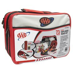 AAA Explorer Road Kit- FAMILY STOREHOUSE- On average we spend 25 days a year in the car, that's right, 600 hours PER YEAR. So what are the chances of being involved in a car accident, stuck in a snowstorm, or a dozen other situations? Pretty high. With the bandages, tools and other items in this kit you'll be prepared for just about any crisis. This is something that you need in every car and should have in all of your kid's cars.