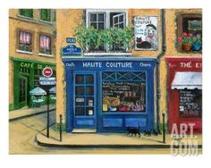 The French High Fashion Pet Shop Giclee Print by Marilyn Dunlap at Art.com
