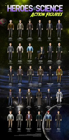 WANT! Heroes Of Science Action Figures (if our children had toys like this, our world could be a better place)