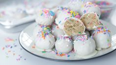 Make Like It's Your Birthday With These No-Bake Oreo Truffles: Today just might be the best day ever because we're making no-bake funfetti birthday cake truffles with Gemma Stafford from Bigger Bolder Baking!