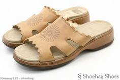 Dansko Womens Slides Sandals Size 8.5 Brown Leather Eve Sundial 39 Slip On Euc #Dansko #Slides