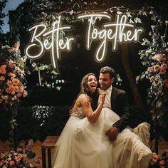 Wedding Name, Wedding Signs, Wedding Ceremony, Our Wedding, Dream Wedding, Party Wedding, Light Wedding, Outdoor Wedding Lights, Wedding Ideas