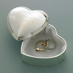 Personalized heart shaped trinket box. This unique heart shaped box will make a great wedding gift for your bridesmaids or maid of honor.