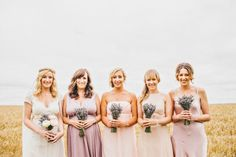 The beautiful bride and her lovely pastel lavender bridesmaids! Dried Lavender Wedding, Lavender Bridesmaid, Bridesmaid Dresses, Wedding Dresses, Wedding Bouquet, Bridesmaids, Irish Wedding, Wedding Fun, Wedding Ideas