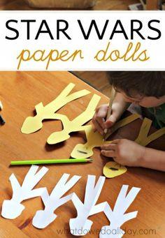 Star wars fans will love making clone trooper paper dolls