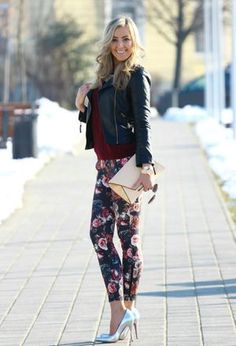 Look by @styleandblog with #leggins #leather #casual #zara #invierno #sweater #office #oficina #biker #burgundy #cuero #fall #pants #chic #streetstyle #flores #floral #leggings #pantalon #jackets #flowers #man #street #flower #fashion #leatherjackets #salir #love #knitted #outfits #printed #estampado #looks #flowerpower.