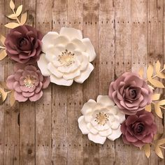 Items similar to 8 piece paper flower set, nursery set, room decor on Etsy Paper Flower Wall, Flower Wall Decor, Paper Flowers, Floral Backdrop, Backdrop Decor, Flower Nursery, Nursery Wall Decor, Room Decor, Backdrops For Parties