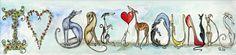 I Love Greyhounds