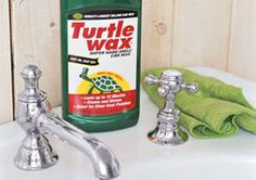 """""""I came across an article by Real Simple on surprising cleaning tips that contained quite a few I had never heard of, like cleaning the sink with Turtle Wax or using denture cleaner to clear residue in vases...""""    Scroll down to the bottom of the page for more unique cleaning ideas :)"""