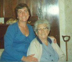 Val with her beloved Mum (Janet Ivy Renison nee Gray).
