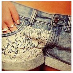 I think that I could make these super easily... new goal: find some light-colored jeans, but some lace, DO IT