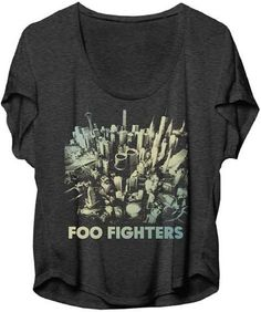 c3a136933 Foo Fighters Women's T-shirt - Foo Fighters Sonic Highways Album Cover  Artwork. Gray