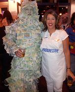 Geico Money Man and Flo from Progressive Homemade Costume
