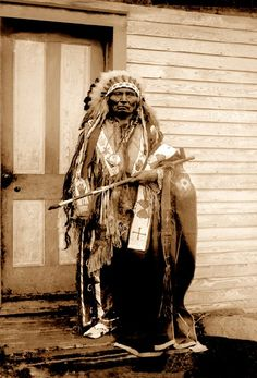 Big Tobacco, a Dance Hall Chief, c. 1900. The Government allowed Native Americans to build halls to host tribal dances. Yankton, S.D., featured 7 dance halls from the 1890s to 1934. They served to preserve Native American cultural traditions. The Presidential medallion hanging from Big Tobacco's neck was issued by Pres. Rutherford B. Hayes.