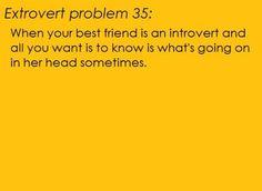Extrovert and introvert best friends