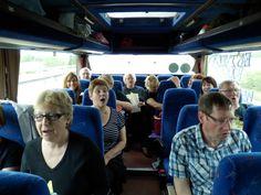 Belper choir singing on bus to Liverpool