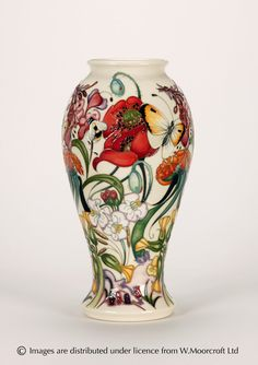 "Moorcroft Pottery ""Circles of Life Collection-Family Through Flowers"" Designer: Emma Bossons FRSA"