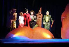 Company in costume, Peach  Ravenshead Theatre Group production