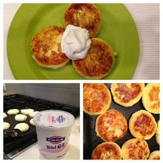 Cottage Cheese Pancakes Servings: 2 Calories: 220