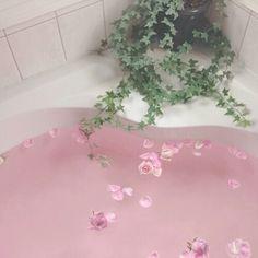 aesthetic, alternative, bath, pink
