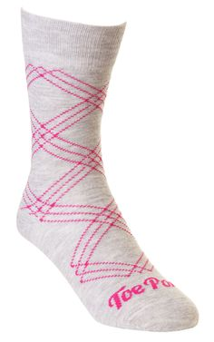 Grey Pink Caterina Tartan Toe Porn Socks - R80 each. View more of this bold sock collection on www.thestylista.c... @The Stylista #style #fashion #accessory #men #socks #thestylista