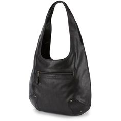 Junior Volcom 'Made Famous' Faux-Leather Hobo ($55) ❤ liked on Polyvore